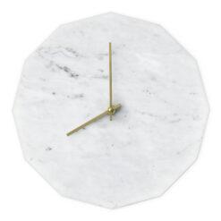 Dette er vores Marble Bianco model med guld visere
