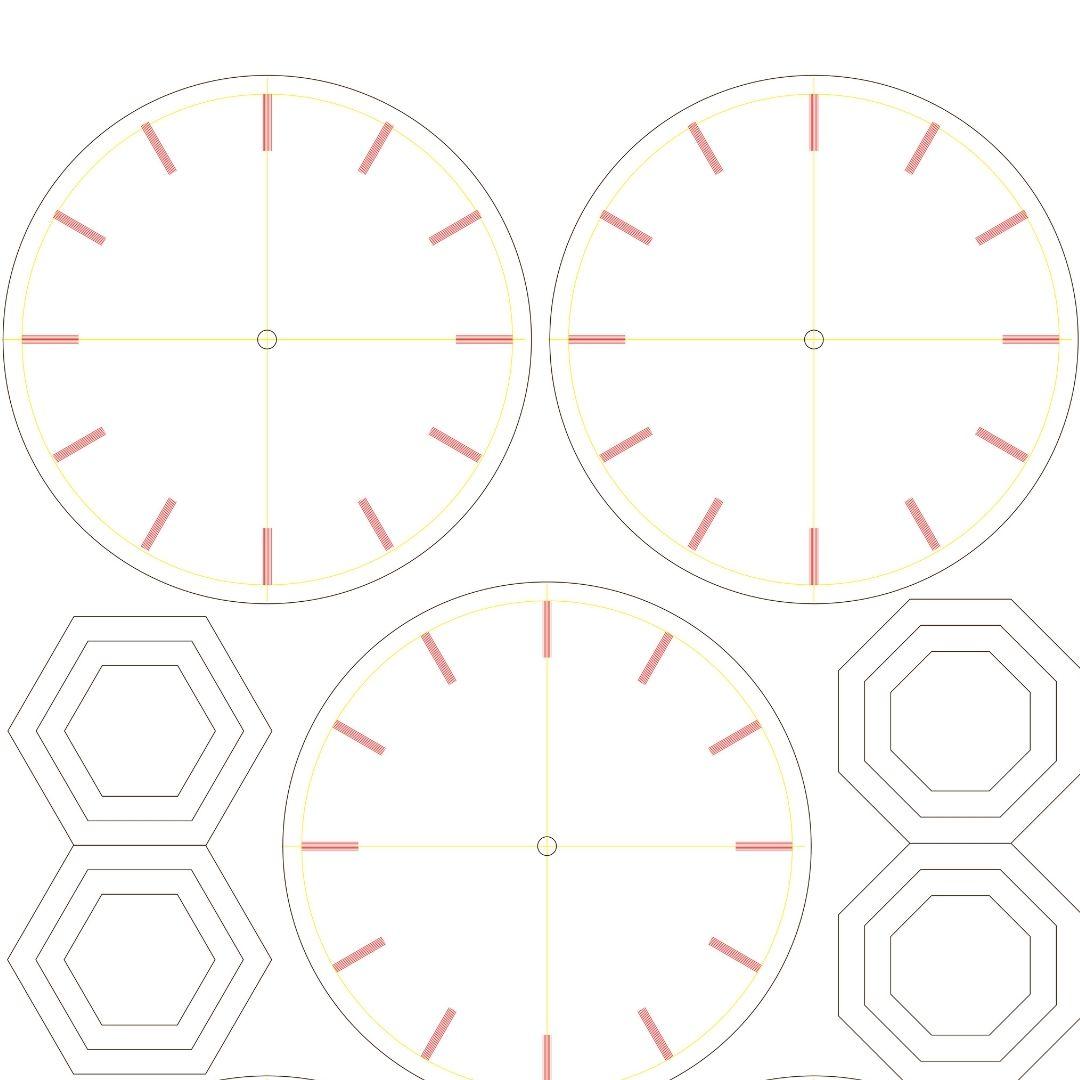 Viser vores tegninger til udarbejdelse af aktuelle ure